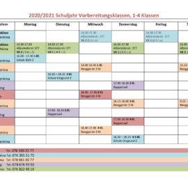 Neuer Stundenplan für Schuljahr 2020/21