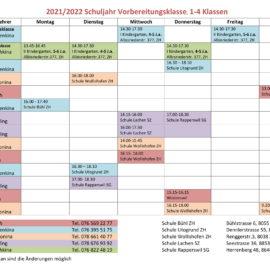 Stundenplan von Detskij Gorodok für das neue 2021-2022 Schuljahr